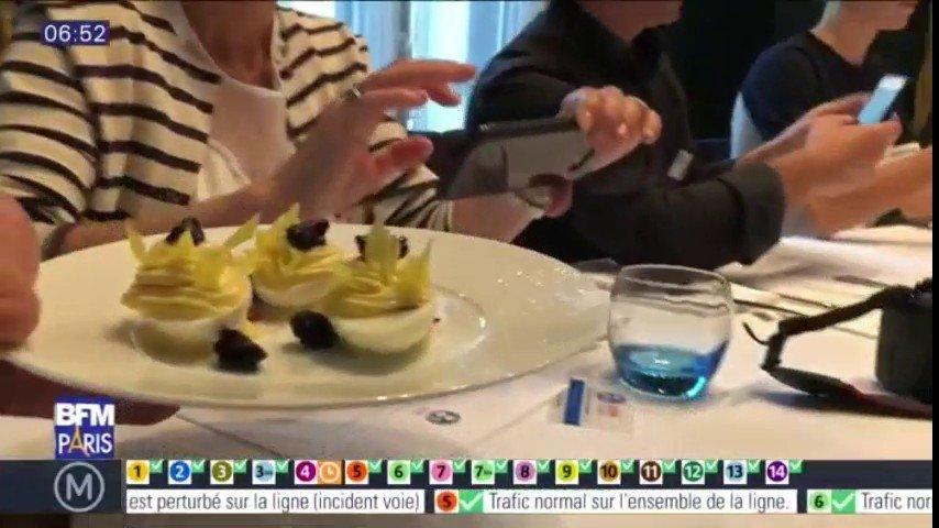 Le titre du meilleur oeuf de l'estomac au monde publié à Paris