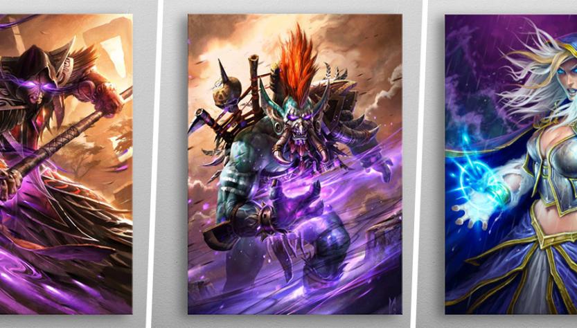Une plaque: décorez la plus haute plaque de métal avec vos personnages Blizzard chez vous.
