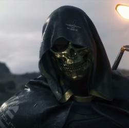 Death Stranding: une nouvelle bande-annonce révèle un homme au masque d'or (Troy Baker) et un skiff extraterrestre
