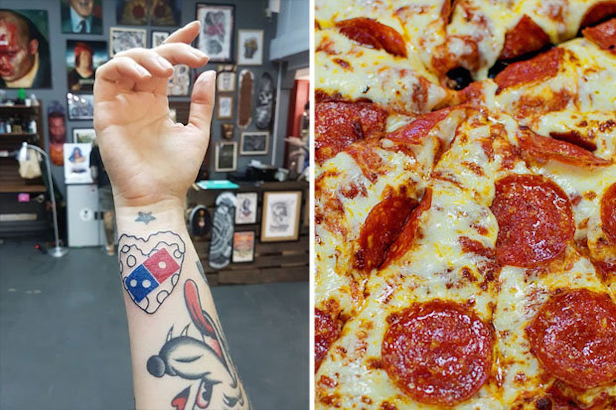 [Zone 42]  Dans Dominican Pizza, la Russie lance un concours pour fournir des pizzas à ceux qui tatouent leur logo et glissent!