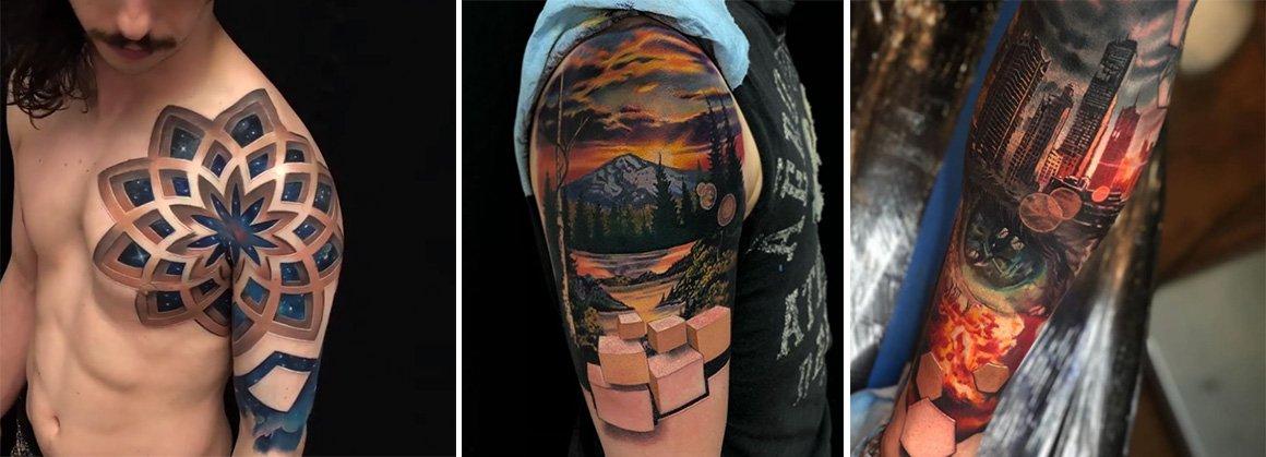 [Zone 42]  10 magnifiques tatouages 3D signés par Jesse Rix
