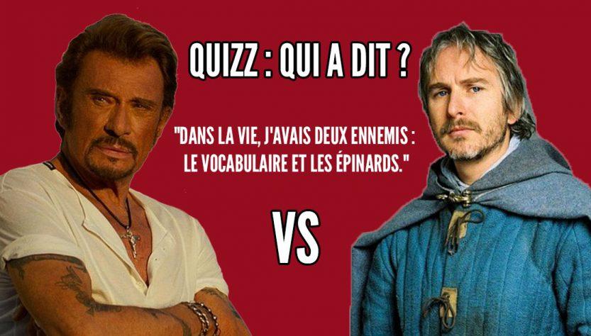 Qui a dit: Johnny Hallyday VS Perceval