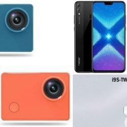 Forfaits plans: Caméra 4K Xiaomi Seabird, Honor 8X, écouteurs Bluetooth TWS I9S