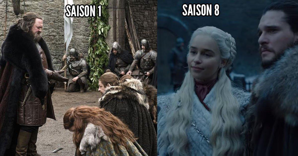 Jeu du trône: premier parallèle entre les saisons 1 et 8