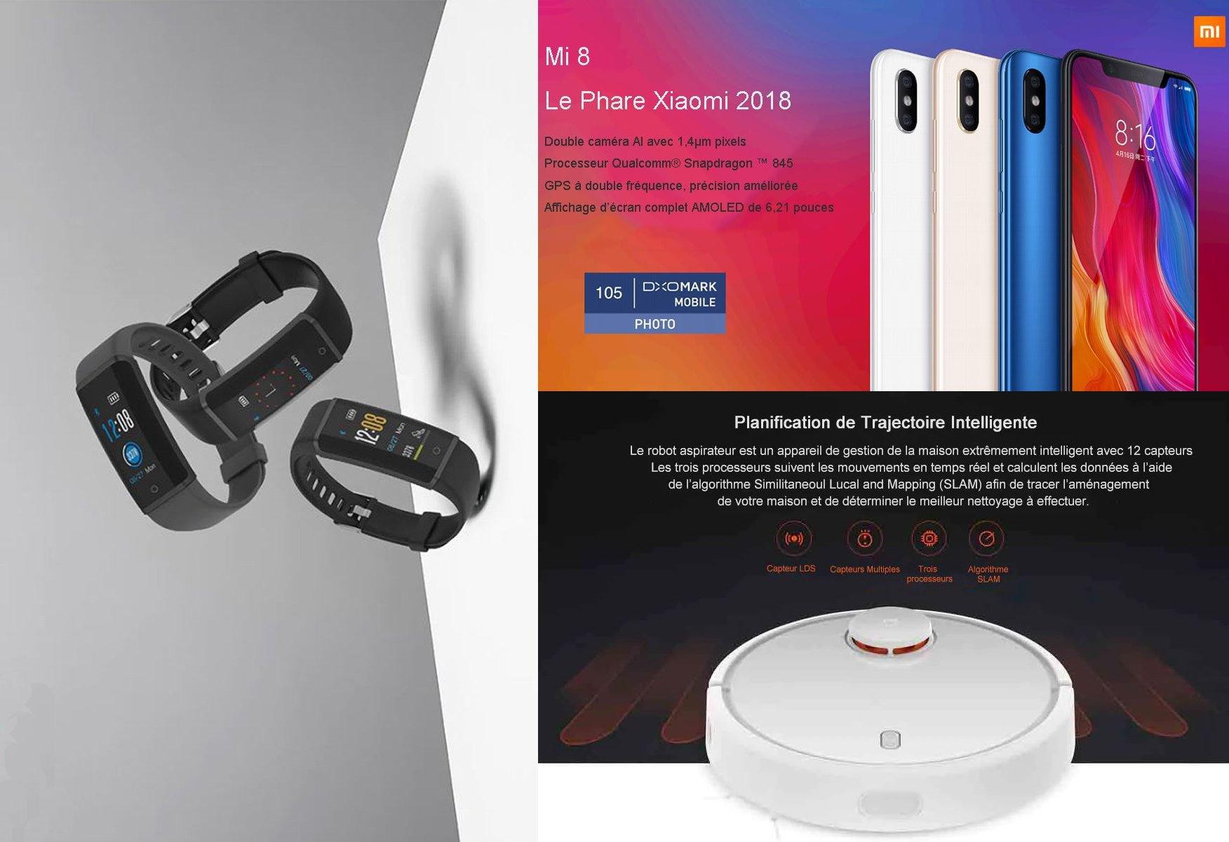 Offres du jour: Xiaomi Mi 8 Lite 204 €, Aspirateur Robot Xiaomi Mi 243 Euros et bracelet Lenovo HX03F 17 €